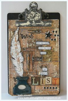Great altered art clipboard