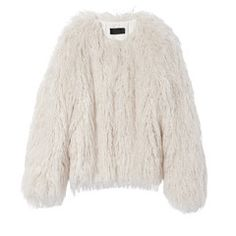 This shaggy jacket is just the best—a statement piece that goes with everything. Wear it as a cardigan over a dress, as a fun stand-in for a blazer, or go...