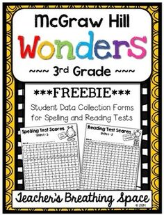 Wonders 3rd Grade --- Student Data Forms for Spelling / Reading Tests