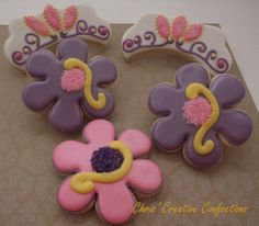 Birthday Decorated Cookie FavorsTiara and by ChrisCreativeConfect, $38.00