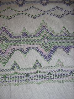 Lavender Swedish Weaving Blanket