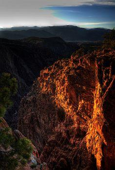 Sunset at Royal Gorge, Colorado