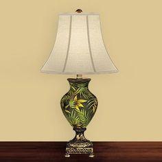 JB Hirsch J15334 Palm Porcelain Table Lamp