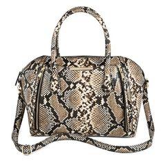 Women's Snake Print Satchel Handbag - Mossimo