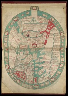 From the Manuscripts blog post 'An even older view of the New World'. Image: Psalter World Map, England,  c. 1265, Additional MS 28681, f. 9r.