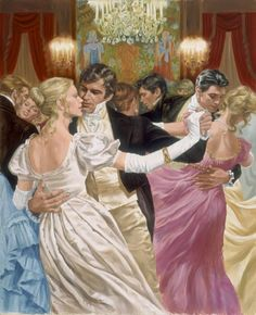Something tells me waltzes were not this passionate in nineteenth century London. Only in novels, which I write!