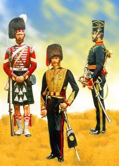 British 93rd Highlander with Royal Horse Artillery and 4th Light Dragoon at Balaclava, Crimean War