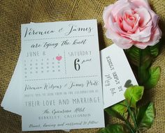Printable Wedding Invitation Suite, Calendar Marks the spot