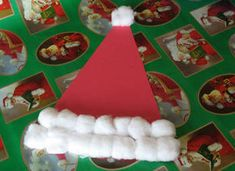 Santa's Hat Craft: Christmas Crafts for Kids Kids Crafts, Christmas Crafts For Toddlers, Daycare Crafts, Toddler Christmas, Christmas Activities, Christmas Crafts For Kids, Toddler Crafts, Christmas Projects, Preschool Crafts
