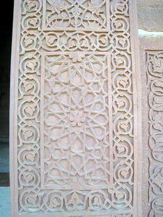 Fatehpur Sikri, Uttar Pradesh, India Textile Patterns, Textiles, Holiday Homework, India Pattern, Sacred Architecture, Mughal Empire, India Art, Window Shutters, Motif Design