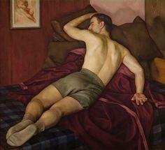Luigi Lucioni (Italian 1900-1988) Resting Athlete (1938)