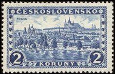 Znaczek: Prague, Hradčany and Charles bridge (Czechosłowacja) (Castles, landscapes and cities) Mi:CS 253aY,Sn:CS 119,Yt:CS 225,AFA:CS 118,POF:CS 225