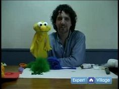 How to Make Puppets : Adding Hair: How to Make a Puppet - YouTube