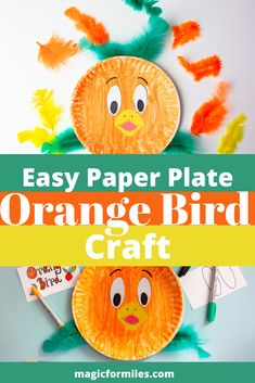 Disney Orange Bird Paper Plate Craft To Bring the Magic of Disney Disney Diy Crafts, Easy Diy Crafts, Crafts For Kids, Disney World Tips And Tricks, Disney Tips, Disney Stuff, Crayon Crafts, Bird Crafts, Paper Plate Crafts
