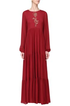 EASE Red Layered Maxi Dress. Shop now!  maxidress  embroidery  red  .  Pernia Pop Up ShopOnline Fashion ... 87f72b568