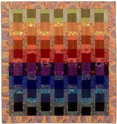 Garden Rainbow.  Great transparency quilt.