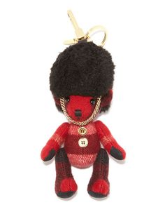Thomas+Busby+Check+Bear+Purse+Charm,+Parade+Red+by+Burberry+at+Neiman+Marcus.