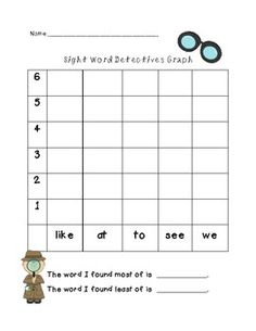 Sight word packet: 32 pages of K sight word activities like graphing, cut/ sort, bingo, Unscrambling, etc!