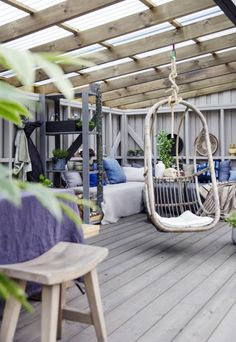 Porches, Brick Patios, Garden Buildings, Pergola Plans, Balcony Garden, Porch Swing, Decoration, Hanging Chair, Love Seat