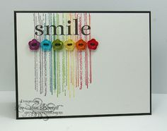 Rainbow colour effect Greyt Paper Crafts