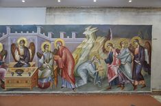 Posts about Uncategorized written by iconsalevizakis Abraham And Sarah, Church Interior, Byzantine Icons, Little Sisters, Angels, Scene, Posts, Painting, Fresco