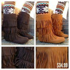Fringe boots♥