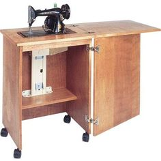 Craft Carts 146400 New Sauder Sewing Machine And Table Drop Leaf Shelves Storage Bins Cabinets It Now Only 169 99 On Ebay