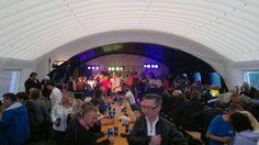 Markedsfest i Lakselv i oppblåsbart selskapstelt
