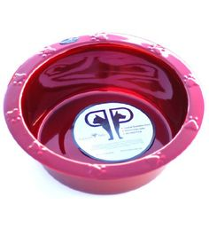 Platinum Pets 4-Cup Stainless Steel Wide Rimmed Bowl, Red * You can find out more details at the link of the image.