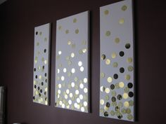 Super easy DIY canvas wall art using paper and a punch.  Great wall hanging above the bed.