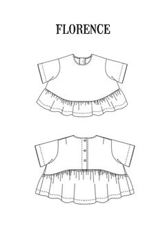 Buy the Florence Top + Dress sewing pattern from Merchant & Mills. Florence is a sweet swingy top/dress with a button back detail & soft high low gathers. Pdf Patterns, Print Patterns, Puffy Sleeves Blouse, Merchant And Mills, Sewing Blogs, Sewing Projects, Dress Making Patterns, Patterned Sheets, Linen Trousers