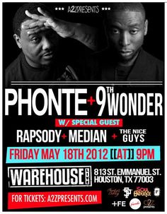 Houston Bouncers: Win Tickets To See Phonte & 9th Wonder In Concert!