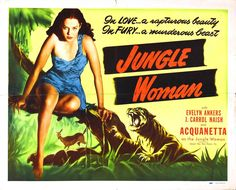 """Jungle Woman"", a 1944 low-budgeter, the forgotten child of the Universal line-up, and the sequel to ""Captive Wild Woman"", tells the story of an ape that gets turned into a girl! Creature Features aired it about half-a-dozen times."