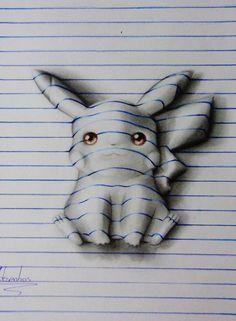 Artista de tan sólo 15 años crea una espectacular libreta con ilustraciones 3d