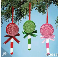Lollipop Ornament Craft. Make these sweet ... | Christmas Crafts