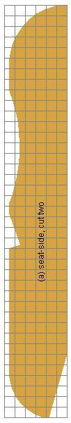 Cape Cod chair seat-side grid plans