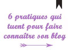 Il est difficile de faire connaître son #blog alors Chat Potté vous explique 6 pratiques qui tuent pour réussir sur le long terme !