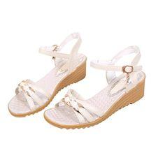 aa8c39e79 Elevin(TM)Women Summer Fashion Peep-Toe Bohemia Platform Flat Flip Flops  Sandal