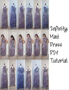 SewPetiteGal: Easy Infinity Maxi Dress DIY Tutorial - a very easy to follow tutorial