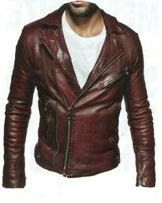 NWT BALMAIN DISTRESSED LEATHER BIKER JACKET W3HT245C301 SIZE FR 52/ XL Lambskin leather Lambskin leatherasymmetric zip front moto jacket with notch collar, multi zip front pockets, snap waist tabs, zip cuffs, and epaulets. Burgundy. Leather. Specialist clean. Models Me...