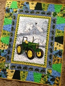 Great idea for a John Deere quilt-love the border