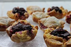 Boysenberry Custard Tartlets