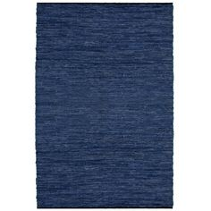 Hand-woven Blue Leather Rug (4' x 6')   Overstock.com Shopping - Great Deals on St Croix Trading 3x5 - 4x6 Rugs
