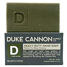 Duke Cannon Supply Co. Heavy Duty Hand Soap, 10 Ounce, Pumice For Deep Cleaning