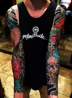 japanese tattoos and meanings Arm Tattoo, Japanese Sleeve Tattoos, Full Sleeve Tattoos, Leg Tattoos, Body Art Tattoos, Chinese Tattoos, Buddha Tattoos, Tattoo Man, Tatoos