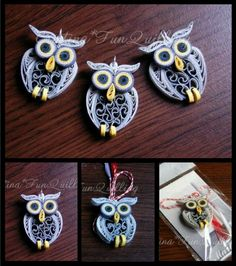 Quilled Owls!
