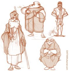 DATTARAJ KAMAT Animation art: Rough character explorations...