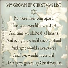 Merry Christmas quotes and wishes can brighten your loved ones. Always appreciate and feel gratitude towards this special holiday and share the wisdom. Feel free to select the best Merry Christmas Wishes and Quotes. Share it will love and grace. May God b Grown Up Christmas List, Favorite Christmas Songs, Merry Little Christmas, Christmas Quotes, Christmas Music, Christmas Love, All Things Christmas, Christmas Holidays, Christmas Ideas
