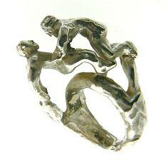 Eros Ring - Silver handmade - Dogale Jewellery Venice Italy