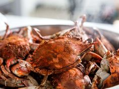 Blue Crab Boil Recipe, Blue Crab Recipes, Seafood Recipes, Crab Steam Pot Recipe, Seafood Boil, Hors D'oeuvres, Dungeness Crab Recipes, Jonah Crab, Steamed Crabs
